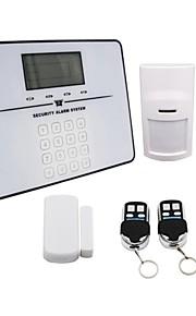 PSTN wijzerplaat huis alarm systeem met lcd dispplay 99 draadloze verdediging zones gs-T33 wit
