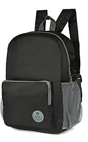 TINYAT 2015 Korean Style Men Women Waterproof Nylon Travel Folding Backpack Large Shopping Backpack T116 Black