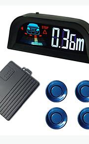 Датчик парковки с четырьмя датчиками, ЖК-дисплей, английский Доклад о человеческом голос, разного цвета датчика для варианта
