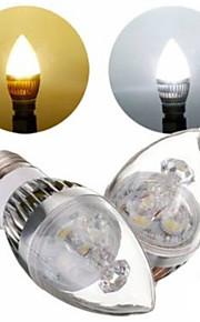 1 stk. E26/E27 3 W 3 Høyeffekts-LED 300 LM Varm hvit/Naturlig hvit A Dekorativ Lysestakepære AC 220-240 V