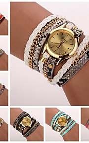 Frauenleopardkorn gewebt Luxus-Marke Quarzarmbanduhr Uhren (farblich sortiert) c&d-120
