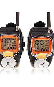 22 kanalen splinter polshorloge stijl een paar walkie talkie met grote backlight LCD-scherm