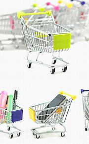 אחסון שולחן סגסוגת עגלת קניות סימולציה חמוד מיני (צבעים אקראיים)