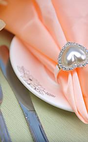 ajuste de la tabla de la boda --- perla en forma de corazón hebilla servilleta