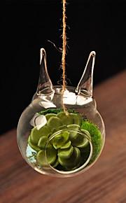 tabellen center gjennomsiktig glass vase bord deocrations (sand ikke inkludert, blomst ikke inkludert)