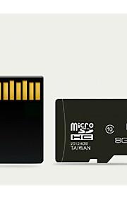 8GB klasse 10 Micro SD SDHC TF flash-hukommelseskort med SD adapter højhastigheds ægte