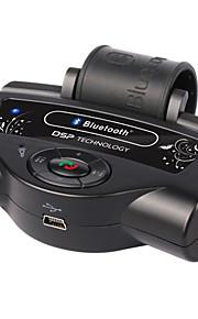 bluetooth v2.0 oplaadbare auto hands-free speaker w / A2DP functie / dual standby / TTS-functie