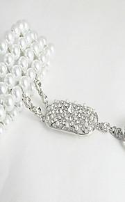 Pulseras y Brazaletes Cadena Aleación Perla artificial/Cristal De mujeres