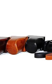 dengpin pu leer olie huid afneembare camera cover geval tas voor canon powershot sx530 hs sx520 hs (verschillende kleuren)