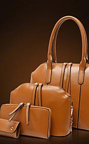 Women PU Shell Shoulder Bag / Tote - Brown / Red / Black