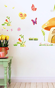 Wall Stickers Wall Decals Style Color Butterfly Small Mushroom PVC Wall Stickers