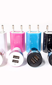 Universal Eu Plug Usb Power Home Wall Charger Adapter for ipod iPhone 6/5S and Others (Assorted Colors)
