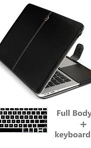 top kwaliteit luxe lederen full body case en TPU toetsenbord hoes voor MacBook Air 13,3 inch (verschillende kleuren)