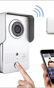 hot salg trådløs wifi dørtelefon vidvinkel med fjernbetjening kontrollerende app support Andriod og iOS