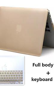 bäst säljande metall stil pvc hårt hela kroppen fallet och TPU tangentbord fodral för MacBook Air 13,3 tum (blandade färger)