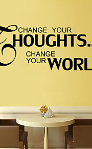 Wall Stickers Wall Decals , Change Your Thoughts English Proverbs  PVC Wall Stickers