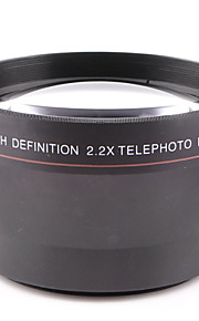 67MM 2.2X Teleconverter Lens Attached General Purpose for Canon Nikon Caliber 67MM Camera Can Be Used