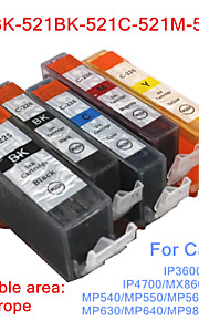 BLOOM®520BK+521BK-521C/M/Y Compatible Ink Cartridge For Canon MP540/MP560/MP620/MP640/MP980 Full Ink(5 color 1 set)