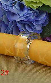 6pcs servilletero cristal de tipo d