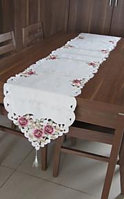 blancos manteles bordados rectángulo clásicos (tamaño: 40cmx210cm)