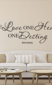Wall Stickers Wall Decals , One Love English Proverbs  PVC Wall Stickers