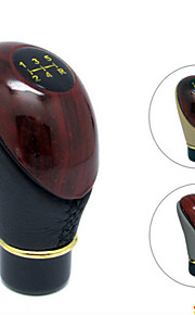 PU Leather Mahogany Plus a Manual Transmission Shift Knob For Manual Gear Car(Assorted Colors)