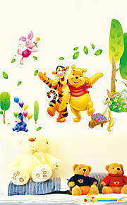 Wall Stickers Wall Decals Style Winnie The Pooh Paradise PVC Wall Stickers