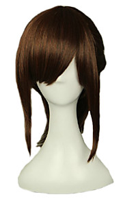 Angelaicos Women Sasha Blaus Attack On Titan Medium Brown Clip in Ponytail Halloween Costume Party Cosplay Wig