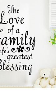 Wall Stickers Wall Decals , the Love of a Family English Proverbs  PVC Wall Stickers