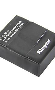Kingma ahdbt-302 1180mah li-polymeer batterij voor gopro3 / gopro3 + en ahdbt-201/301 - zwart