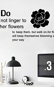 Wall Stickers Wall Decals , English Proverbs  PVC Wall Stickers