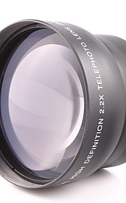 62MM 2.2X Teleconverter Lens Attached General Purpose for Canon Nikon Caliber 62MM Camera Can Be Used