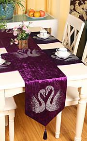 """europæisk stil af høj kvalitet luksuriøse velour svane rhinestone bordløber (13 """"x79"""")"""