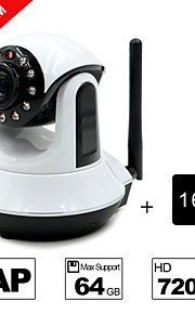 besteye® 16gb TF-kaart en HD720p h.264 p2p wifi ip camera 1.0m pixels PTZ ir nachtzicht bedrade of wirless camera wifi