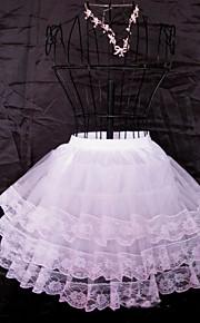 Déshabillés Robe de soirée longue Genou 3 Filet de tulle Blanc
