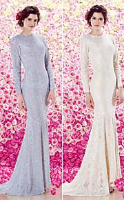 TS кутюр формальное вечернее платье - шампанское труба / русалка жемчужина развертки / щетка поезд блестками