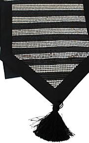 sparkle delxue Pailletten mit Quaste Esstisch runner-schwarz