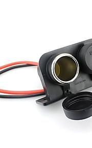 twin socket 12v waterdichte atv utv auto vrachtwagen sigarettenaansteker power adapter