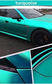 1.52 * 1m auto polimerica PVC cromato opaco vinile avvolge colore sticker cambia autoadesivo con la bolla d'aria accessori auto