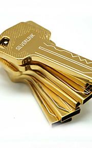 16gb guld og sølv nøgle form gave usb pen-drev