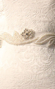 Ceinture Satin/ Tulle Ceintures pour Femmes Mariage/Fête/Soirée Fleur/Strass
