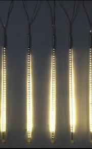 DC12V Eingang 20w 80cm lang 72pcs Lampen LED Meteor regen Licht, warme weiße Farbe 10 Stück / Set