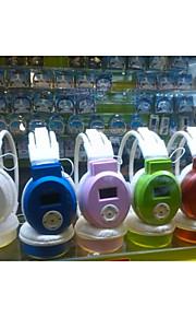sports trådløs hovedtelefon med display support tf / fm