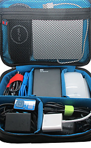 Khanka stort vandtæt bærbar rejsearrangør taske til elektronisk tilbehør