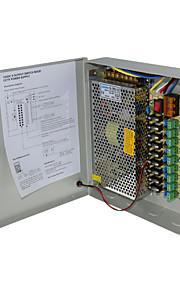 cctv 9ch AC naar DC 12v 15a geregelde schakelende converter supply