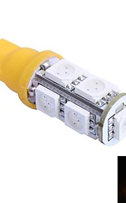t10 2w 200lm 9x5050 SMD LED farve rød / gul / blå / grøn / kold / varmt lys (dc 12v ,, 1stk)