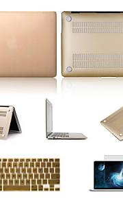 """hoge kwaliteit effen kleuren pvc koffer met screen protector en toetsenbord flim voor MacBook Air 13,3 """"(verschillende kleuren)"""