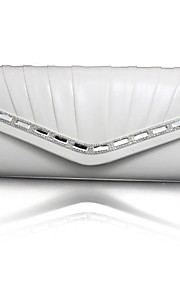 Women leatherette Event/Party Evening Bag White / Blue / Gold / Silver / Black