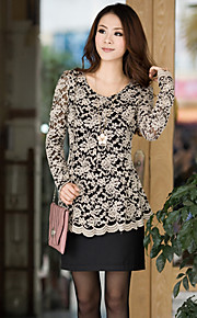 Women's Plus Size Lace Blouse