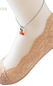 Women Cotton/Lace Stealth Thin Socks